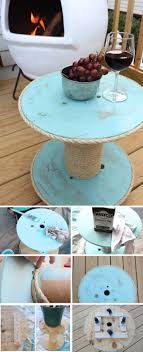 under 12 diy nautical spool side table