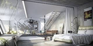 Beautiful ... Large White Drapes Lend A Soft Visual Touch To The Industrial Bedroom  [Design: Crescent