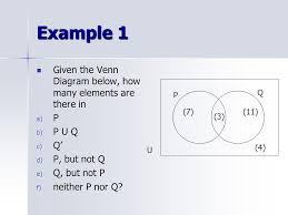 Elements Of A Venn Diagram Venn Diagrams Numbers In Each Region Ppt Video Online Download
