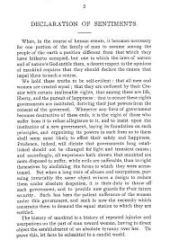 seneca falls convention women s suffrage this is one page of the declaration of sentiments image from