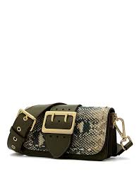 Designer Mini Crossbody Bag Lafestin Mini Crossbody Bags For Women Leather Snakeskin Pattern Designer Rivets Shoulder Purse With 2 Detachable Straps