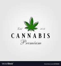 Weed Designs Vintage Cannabis Green Leaf Logo Designs