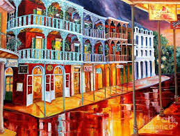 new orleans painting new orleans reflections in red by diane millsap on large new orleans wall art with new orleans reflections in red painting by diane millsap