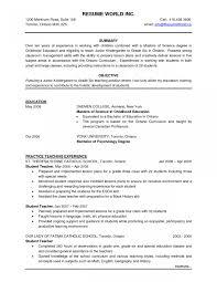 Lovely Elementary Teacher Resume Examples Resume And Cover Letter