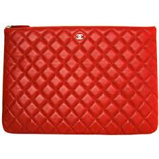 CHANEL Red Quilted Leather Oversized Clutch - Polyvore & CHANEL Red Quilted Leather Oversized Clutch Adamdwight.com