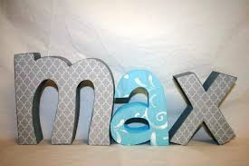 image of 5 inch wooden letters