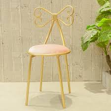 ruyiyu vanity stool golden bronze color dressing table chair bow wrought iron