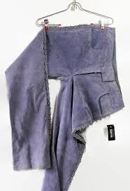 wilsons leather pants lilac suede rocker chic metallic rings pierced flare leg