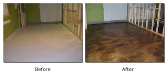 stained concrete patio before and after. Overlayed And Acid Stained Concrete Patio Before After .