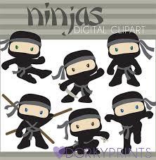 cute ninja clipart. Perfect Ninja Ninja Digital Clip Art Set Personal And Commercial By DorkyPrints 350 Intended Cute Clipart C