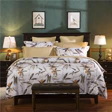 retro style ink bamboo pattern bedding set duvet cover bed sheet pillowcase bedspread king queen twin size bed linen white comforter set queen egyptian