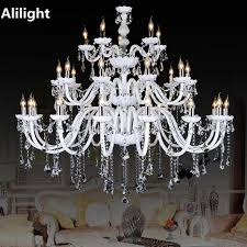 large lighting fixtures. Modern Large Crystal Chandeliers White Color Luxury Fancy Lamp Lighting Fixtures For Foyer Dining Living Room T