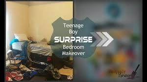 Cool teen boys bedroom makeover Teenage Boy Surprise Bedroom Makeover Reveal Youtube Teenage Boy Surprise Bedroom Makeover Reveal Youtube