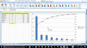 How To Create Pareto Chart In Ms Excel Tamil