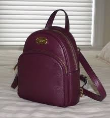 nwt michael kors abbey xs leather backpack cross bag plum purple 38f7xayb1l