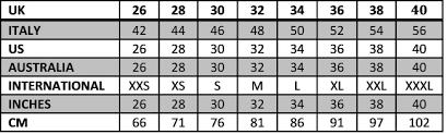 Mens Jeans Sizes Conversion Chart 74 Veritable Womens Jeans Size Comparison