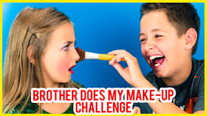 brother does my make up challenge a k a boyfriend does my make up challenge plp tv sweet