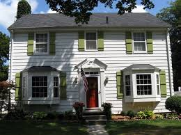 red front door white house. What Color To Paint Front Door With Green Shutters - Home Design And . Red White House