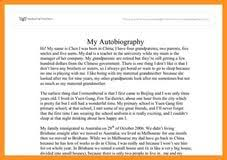 sample personal biography sample of biography essay
