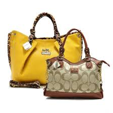 Coach Legacy Pinnacle Lowell In Signature Large Khaki Satchels ADW+Yellow  Satchels ACM