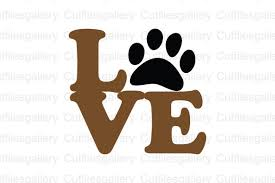 Please, feel free to share these vector images with your friends. Love Paw Graphic By Cutfilesgallery Creative Fabrica