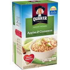 quaker oatmeal apple cinnamon instant oatmeal