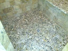 stone shower floor tile pebble photos natural cleaning river
