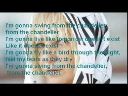 sia chandelier paroles