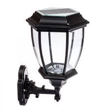 solar 12 led outdoor garden lamp sconce wall lantern light
