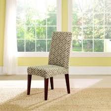 sure fit stretch ironworks short dining room chair slipcover dimensions back height up to