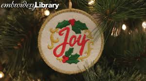 Embroidery Library Christmas Designs Embroidered Christmas Ornaments In The Hoop