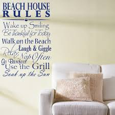 Quotes About Houses Beach House Rules Quote Saying Words Wall Decals 97