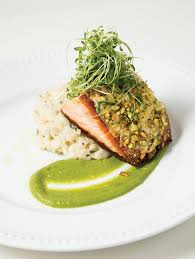 roasted king salmon at the garden on grand photo by jonathan man