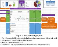 Simple Budget Plan Excel Budget Planner Simple Budget Detailed Budget Planning Easy Budget Excel Download