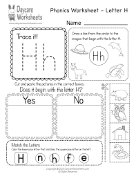 Our free phonics worksheets are colors, simple, and let kids understand phonics in a natural way through fun bingobonic phonics has the best free phonics worksheets for esl/efl kids! Free Letter H Phonics Worksheet For Preschool Beginning Sounds