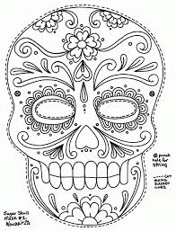 Day Of The Dead Skull Coloring Pages Printable Coloring Home