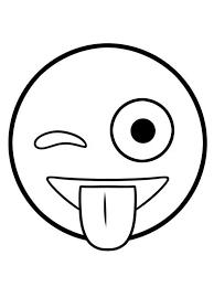 Kids N Funcom Coloring Page Emoji Movie Wink Emoji