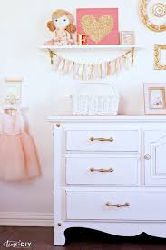 darling girls room gallery wall decor love the chippy glam dresser makeover so