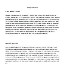 Sample Obituary For Dad Template Free Newspaper Definition 7 ...