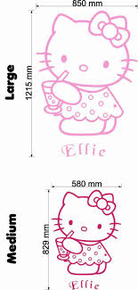 Hello Kitty Size Chart Superb Hello Kitty With A Drink Wall Decal Vinyl Art Sticker