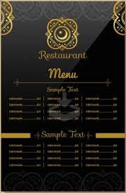 Indian Restaurant Menu Template Menu Restaurant Menu Template