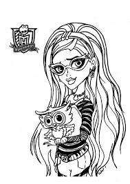 Small Picture Monster High Coloring Pages Coloring page
