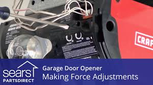 garage door opening on its ownGarage Door Wont Open or Close Force Adjustments  YouTube