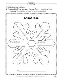Simile Snowflake Poetry School Pinterest And Math Worksheets ...