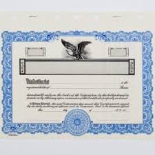 Stock Certificats Corporate Stock Certificates Bindertek