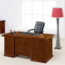 wood office table. Cherry Wood I Shaped Simple Office Table Design D
