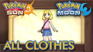Pokémon Sun and Moon - All Clothes Female - YouTube