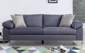 valencia modern linen low profile sofa  sofamaniacom