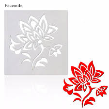 Comparer Les Prix Sur Template Wall Flower Online Shopping