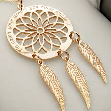 Dream Catcher Without Feathers Dreamcatcher Necklace Rose Gold Dream Catcher Personalised 24